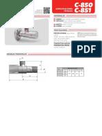 Valvula Angular Corte Cierre Metalico c850