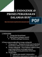 Proses Endogenik @ Proses Pergerakan Dalaman Bumi