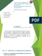LOES (Ley Organica de Educacion Superior)
