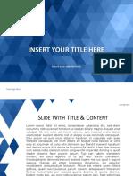 BlueMosaic PowerPoint Template