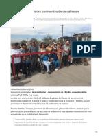 29-10-2018 - Inaugura gobernadora pavimentación de calles en Hermosillo - ElImparcial