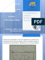 Fundamentos Para La Producción Acuícola