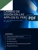 Cambio de Visión en las APPs en El Perú