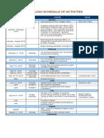2018 IIEE-CDO Schedule of Activities