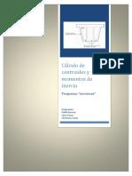 Cálculo de Centroides y Momentos de Inercia