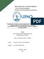 Huatay Víctor Sistema Supervisión Proceso Ecualización