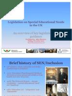 Legislation on Special Educational Needs in the UK v2