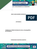 Evidencia 4 Diseño Plan de Ruta y Red Geofrafica