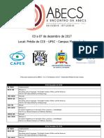 ABECS 2018 programação preliminar