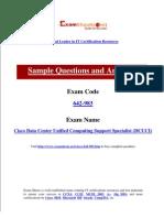 CIsco 642-983 Cisco Data Center Unified Computing Support Specialist (DCUCI) Exam