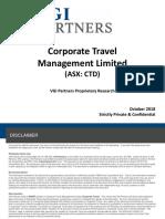 VGI Partners Presentation on Corporate Travel Management October 2018