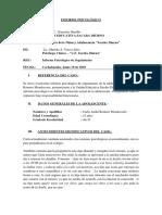 Informe Psicológico- Carla Romero