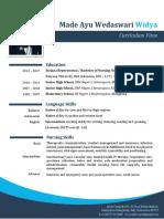 Contoh Curriculum Vitae / CV Bahasa Inggris, Perawat
