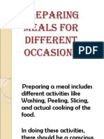 Preparing Meals for Different Occasions