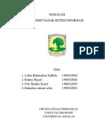 Konsep Dasar Sistem Informasi Klmpok 1