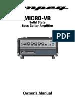 Manual ampeg micro vr