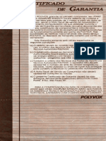 Certificado Garantia Atari2600 Polyvox