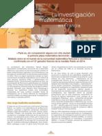 La Investigación Matemática en Francia-Campus France