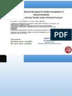 Finite Element Simulation for Heatline Visualization of Natural Convection