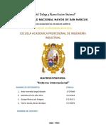 Entorno internacional Macroeconomia