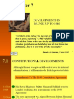 Chapter 7 (Developments In Brunei Up To 1986)