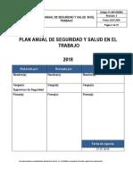 PL-005-SSOMA Plan Anual de Seguridad y Salud en El Trabajo 2018