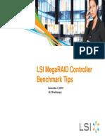 LSI MegaRAID Controller Benchmark Tips