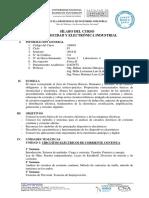 Sylabus Electricidad y Electrónica Industrial 2018-II