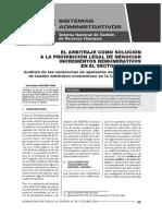 El Arbitraje Para Incrementos Remunerativos en El Sector Público - Autor José María Pacori Cari