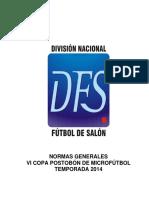 Futbol de Salon-normas Generales 2014