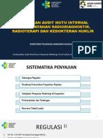 Kebijakan Audit Mutu Yan Radiologi (RD, RT, KN) -Kupang 27 Agustus 2018