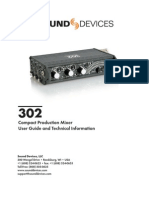 User Manual Sound Device 302