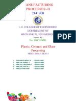 Manufacturing Processes -II PPT GTU LDCE