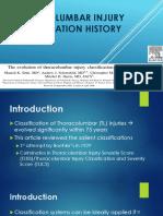 Thoracolumbar Injury Classification History