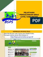 Materi Pelatihan Level Kabupaten
