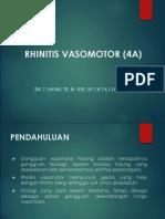 3. Rhinitis Vasomotor (4A)