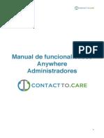 Funcionalidades Anywhere - Administrador