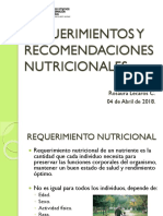 Requerimiento y Recomendaciones 04-04-2018