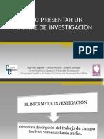Como Presentar Un Informe de Investigacion