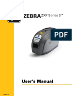 Zebra ZXP Series 3 Card Printer User Manual