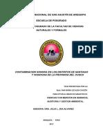Contaminacion Sonora en Los Distritos de Santiago y Wanchaq de La Provincia Del Cusco