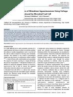 Growth Curve Analysis Rhizobium Leguminosarum Using Voltage Produced Microbial Fuel Cell