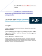 Staffing Organizations 8th Edition Solutions Manual Heneman Judge Kammeyer-Mueller