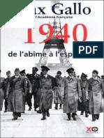 1940-De l'Abîme a l'Espérance