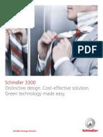 Schindler 3300 Capabilities Brochure 2014