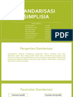 Ppt Standarisasi Simplisia Kelompok 6