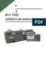 MT-3000 Operations Manual
