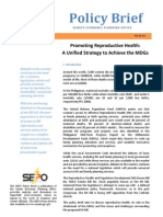 Senate Economic Planning Office Policy Brief on Reproductive Health