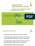 Implementation of EU Nitrates Directive