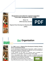 Perspectives and Outlook for Regional Cooperation in the Water Management Sector in SEE